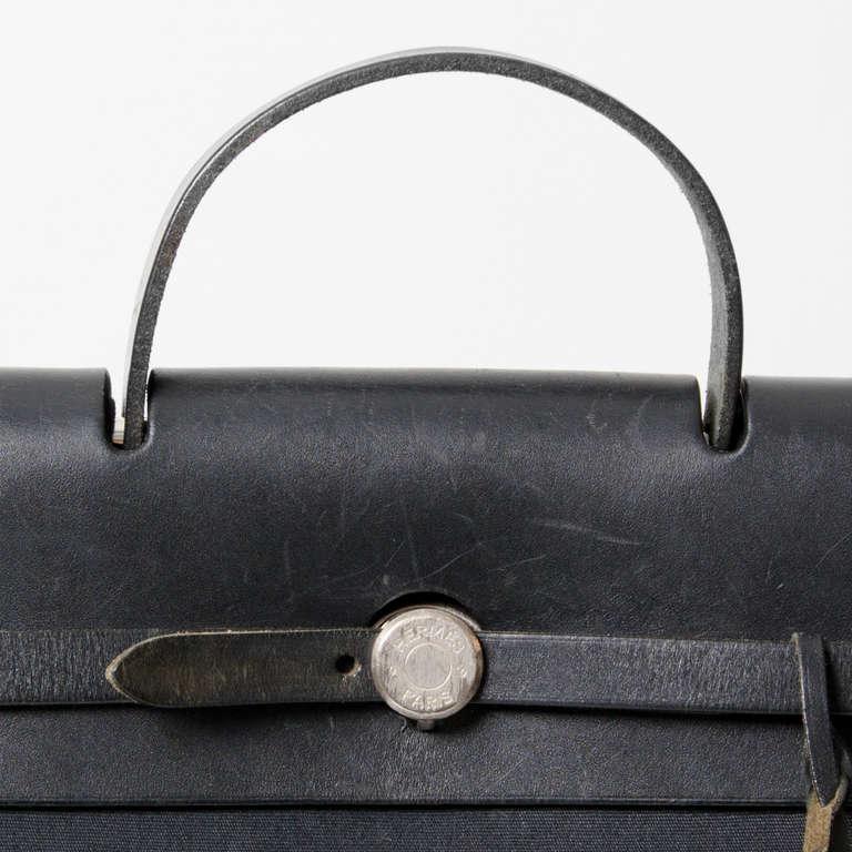 Hermes Herbag Black Toile 2 in 1 Backpack at 1stdibs