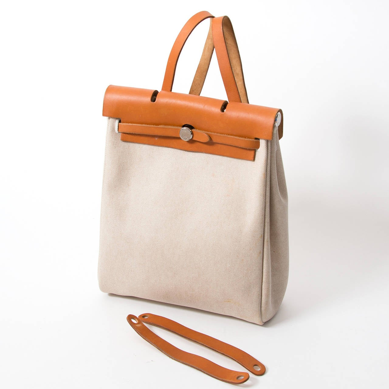 Hermès Herbag Canvas Gold 4