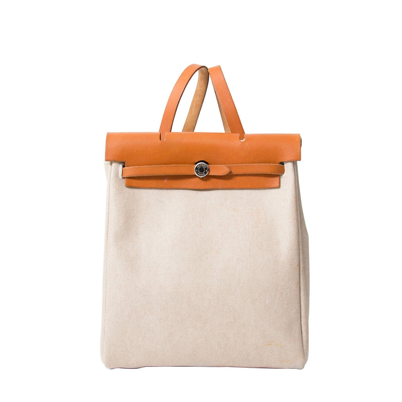 Hermès Herbag Canvas Gold 1