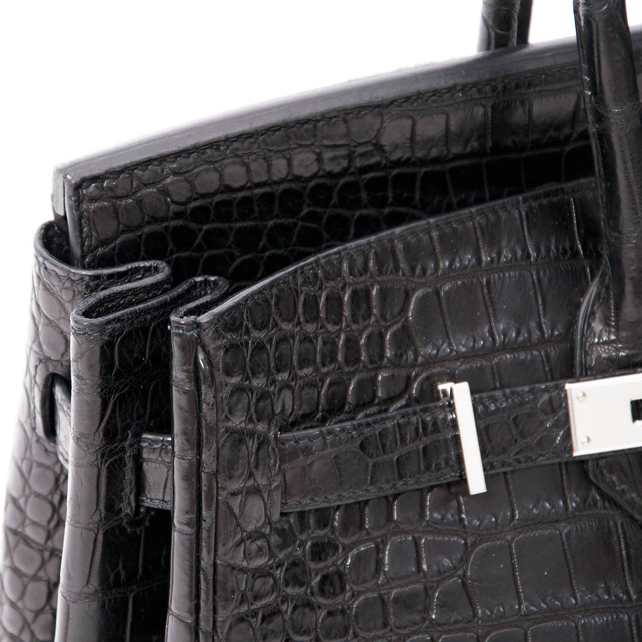 1857a698d55f Hermes Matte Black Porosus Crocodile Birkin 35 Incredibly rare and hard to  find this exotic Matte