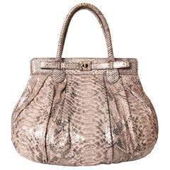 Zagliani Large Puffy Python Bag