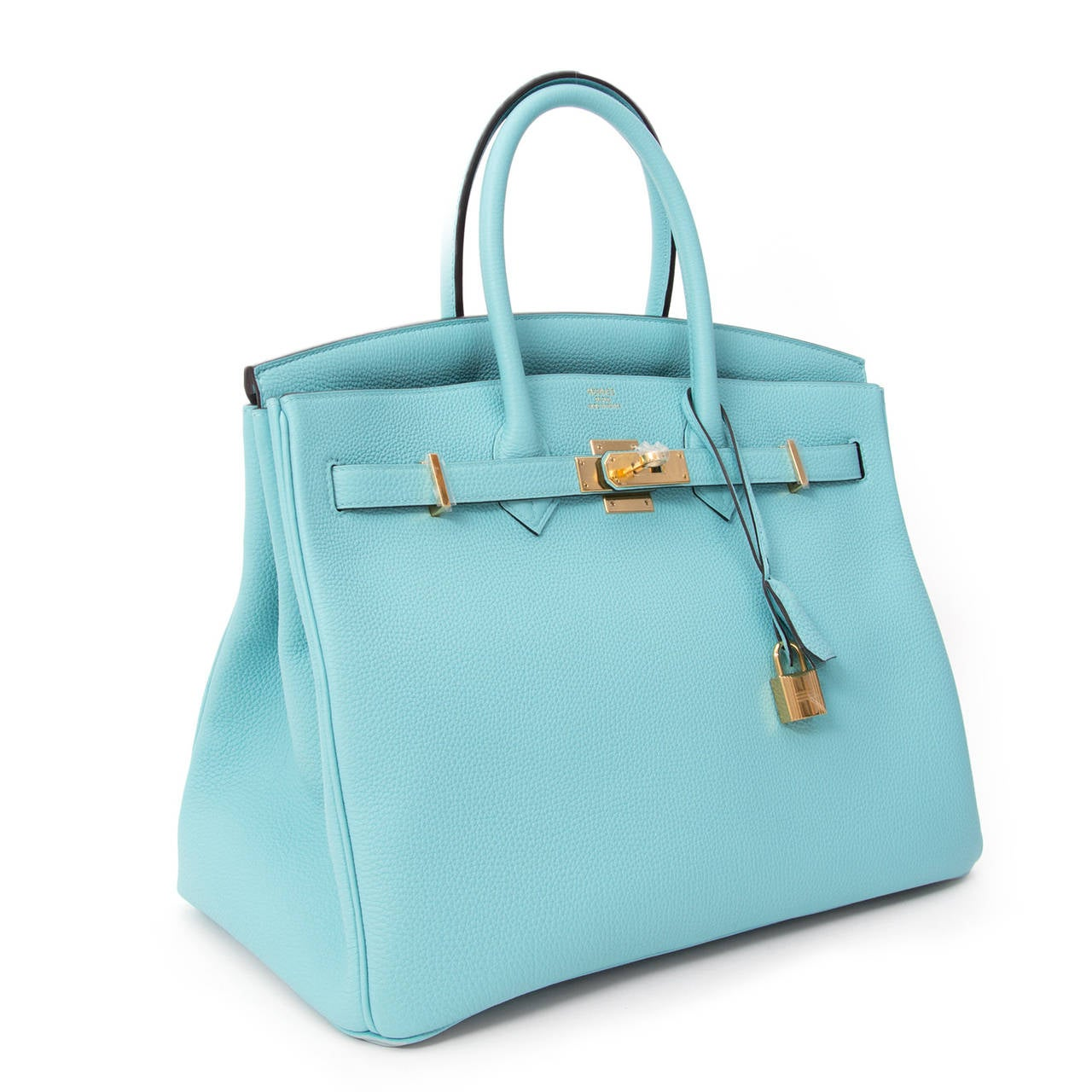 7f664d28eac2 BRAND NEW Hermès Birkin Togo Bleu Atoll GHW 35 In New Condition For Sale In  Antwerp