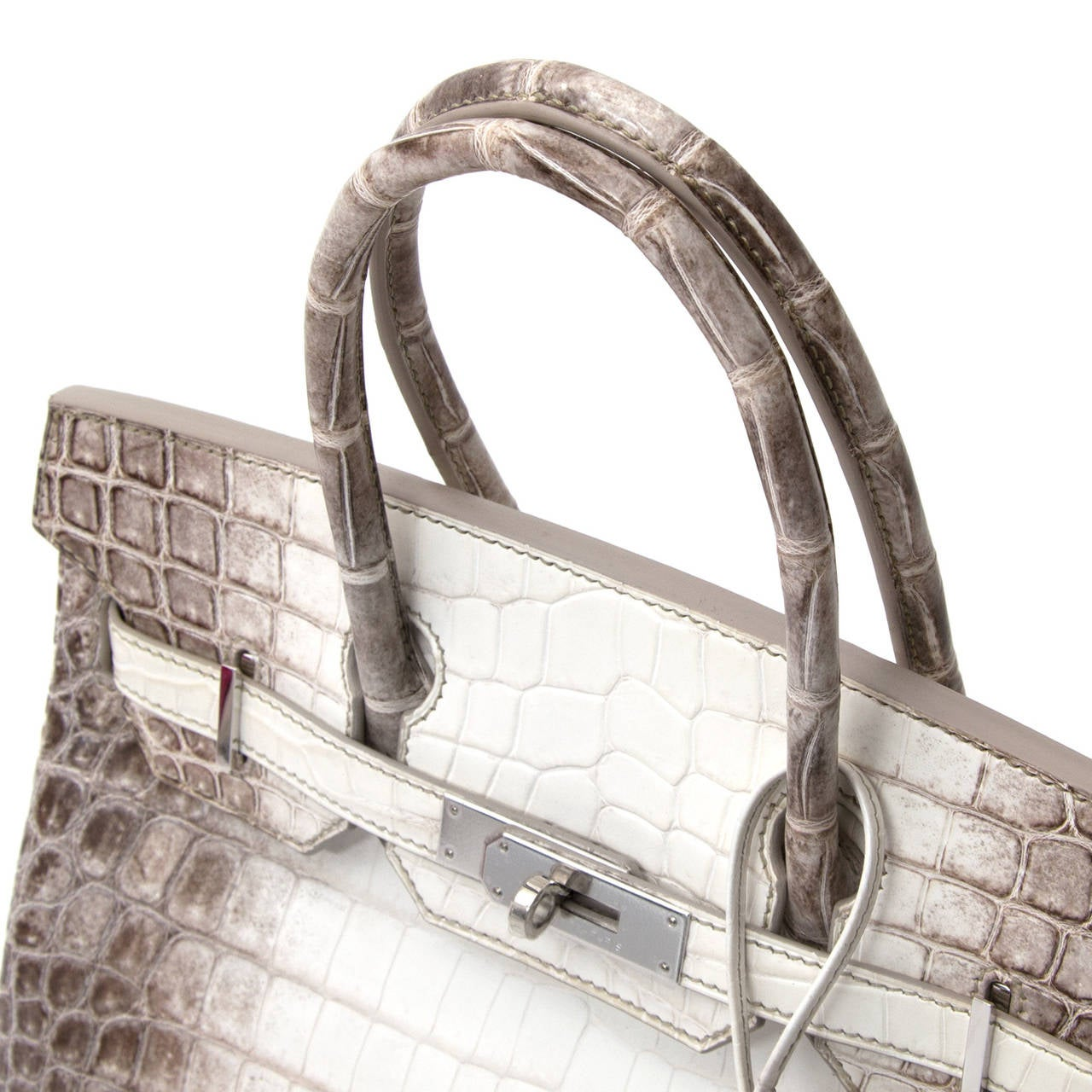 28b735a98f Hermès Birkin Bag Crocodile Niloticus Himalaya Handbag White PHW 30 For  Sale 5