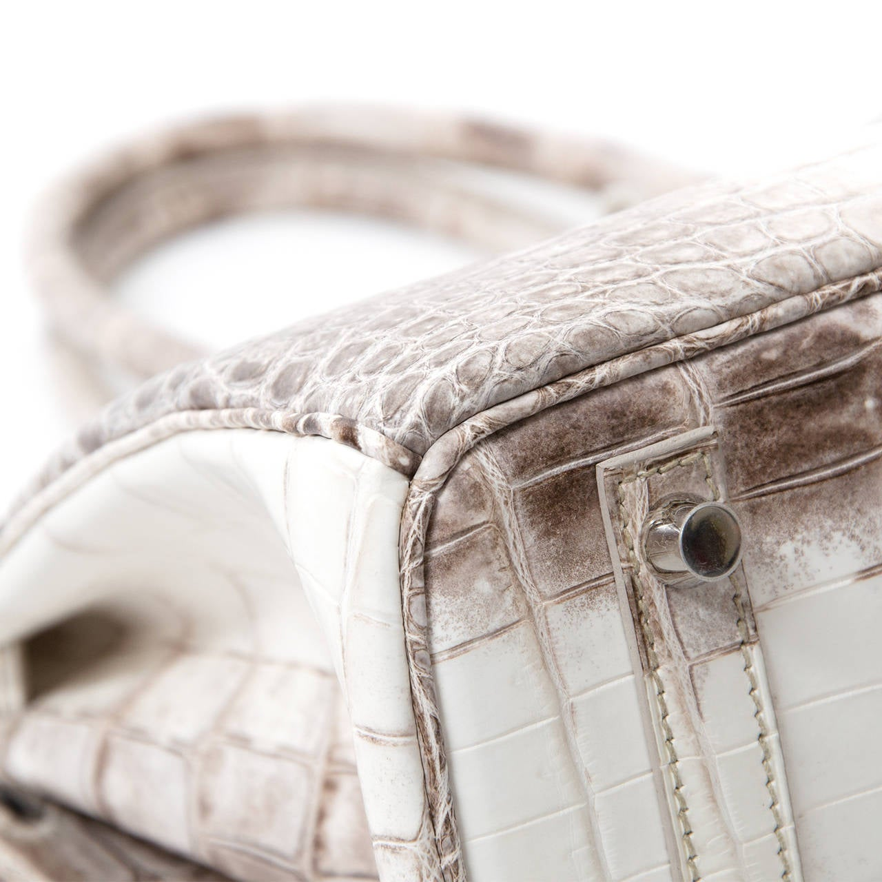 Herm��s Birkin Bag Crocodile Niloticus Himalaya Handbag White PHW ...