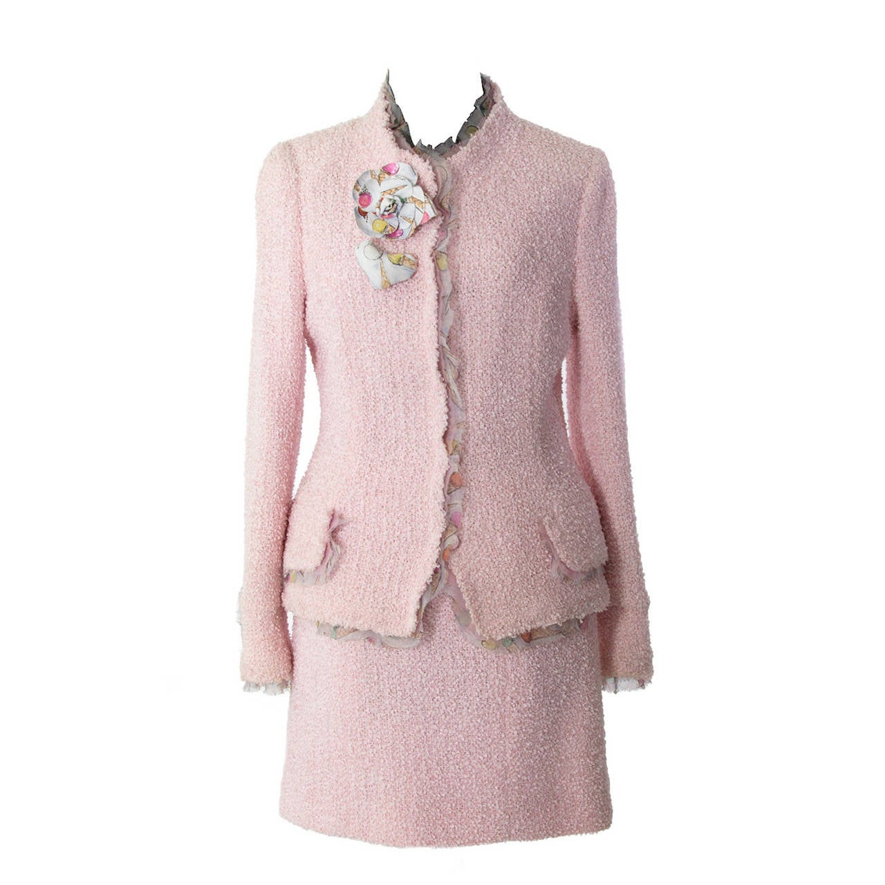 Pink Skirt Suits 91