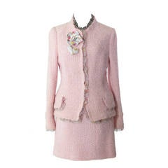 Chanel Pink Two-Piece Skirt Suit