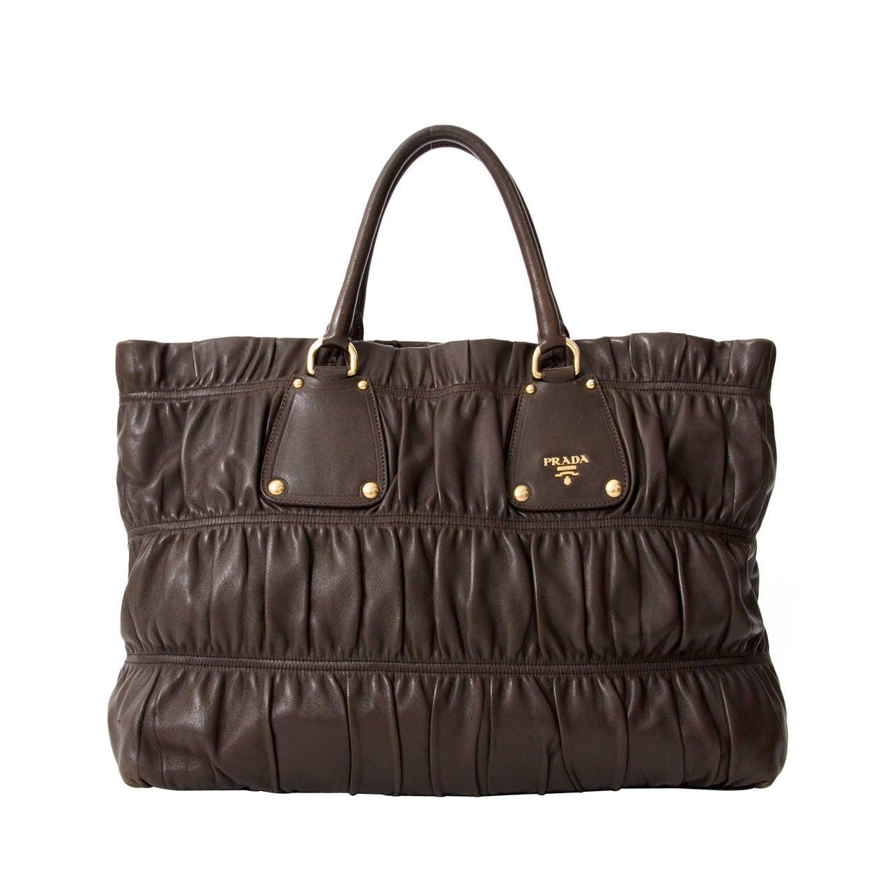 Prada Bags Brown Prada Tessuto Small Crossbody Bag Black