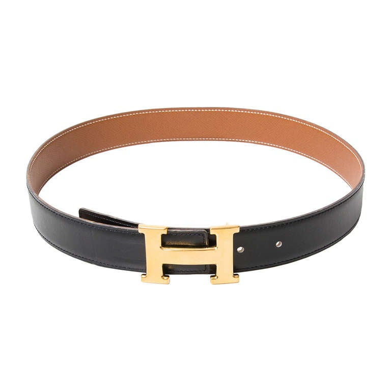 "Hermès Reversible ""H"" Belt 1"