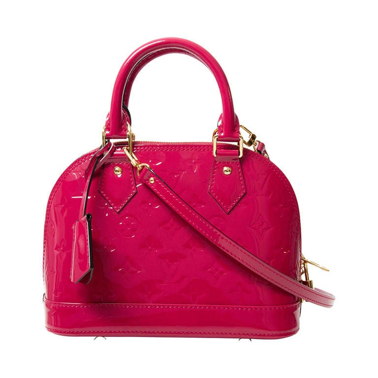 Louis Vuitton Monogram Vernis Alma BB Rose Indien 1