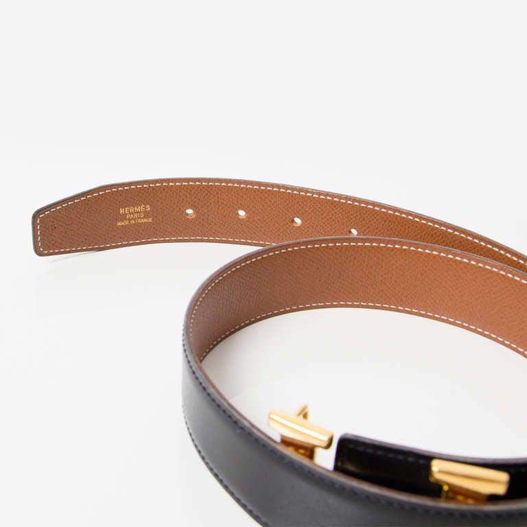 "Hermès Reversible ""H"" Belt 2"