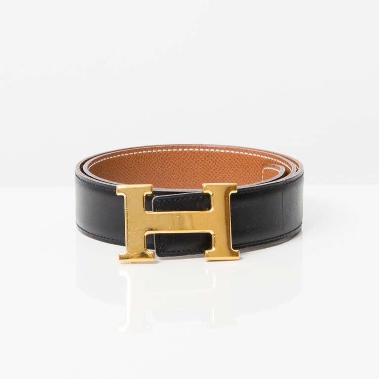 "Hermès Reversible ""H"" Belt 4"