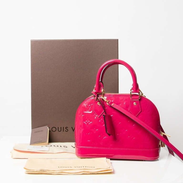 Louis Vuitton Monogram Vernis Alma BB Rose Indien 4