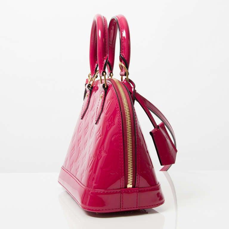 Louis Vuitton Monogram Vernis Alma BB Rose Indien 5