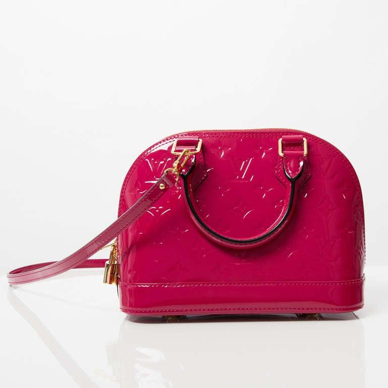 Louis Vuitton Monogram Vernis Alma BB Rose Indien 6