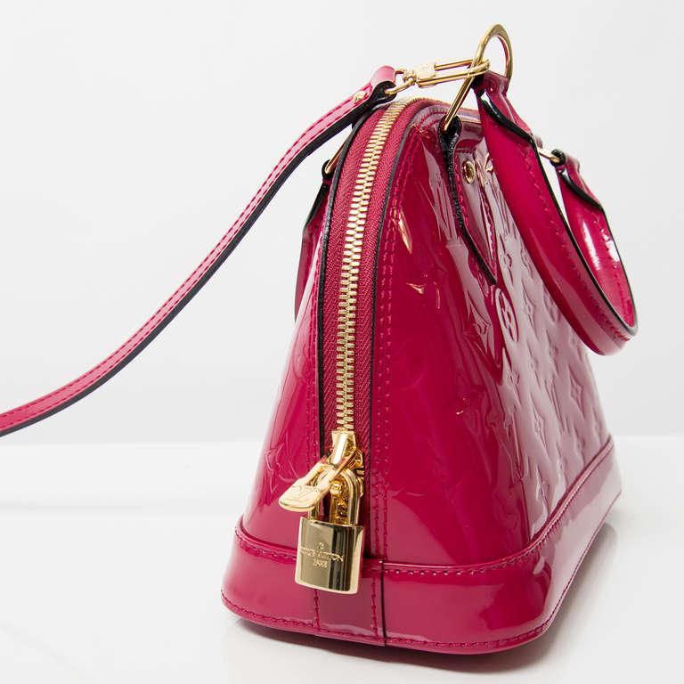 Louis Vuitton Monogram Vernis Alma BB Rose Indien 2