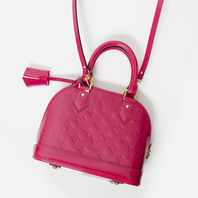 Louis Vuitton Monogram Vernis Alma BB Rose Indien 3