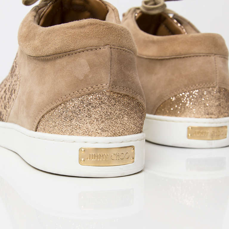 992082c8477f Jimmy Choo  Miami  Suede Sneakers Sand at 1stdibs