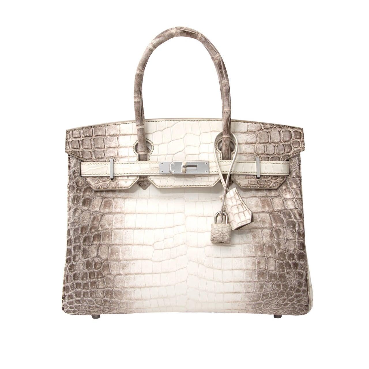 herm s birkin bag crocodile niloticus himalaya handbag white phw 30 for sale at 1stdibs. Black Bedroom Furniture Sets. Home Design Ideas