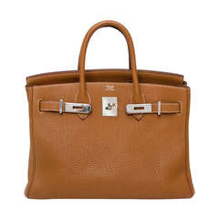 Hermes Gold Birkin Bag 30