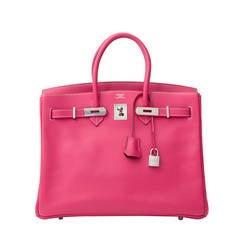 Hermès Birkin 35 cm Candy Veau Epsom Rose Tyrien + receipt