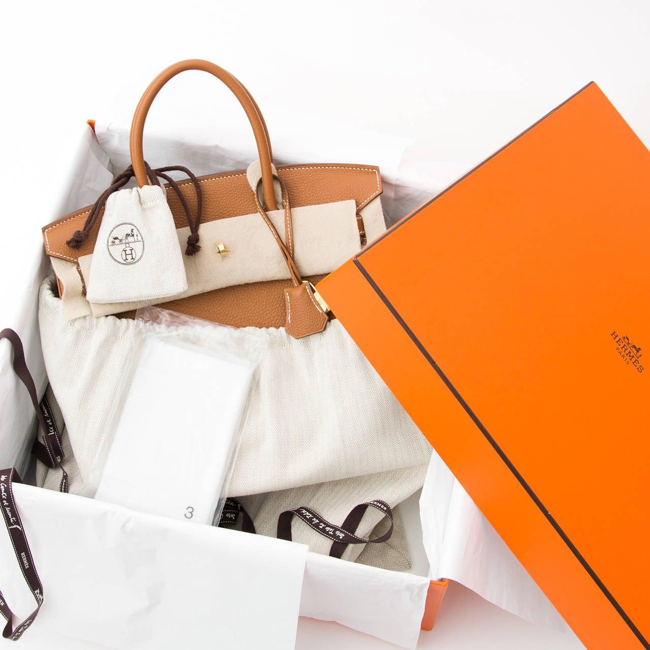 Hermès Birkin Gold Togo 30 GHW 4