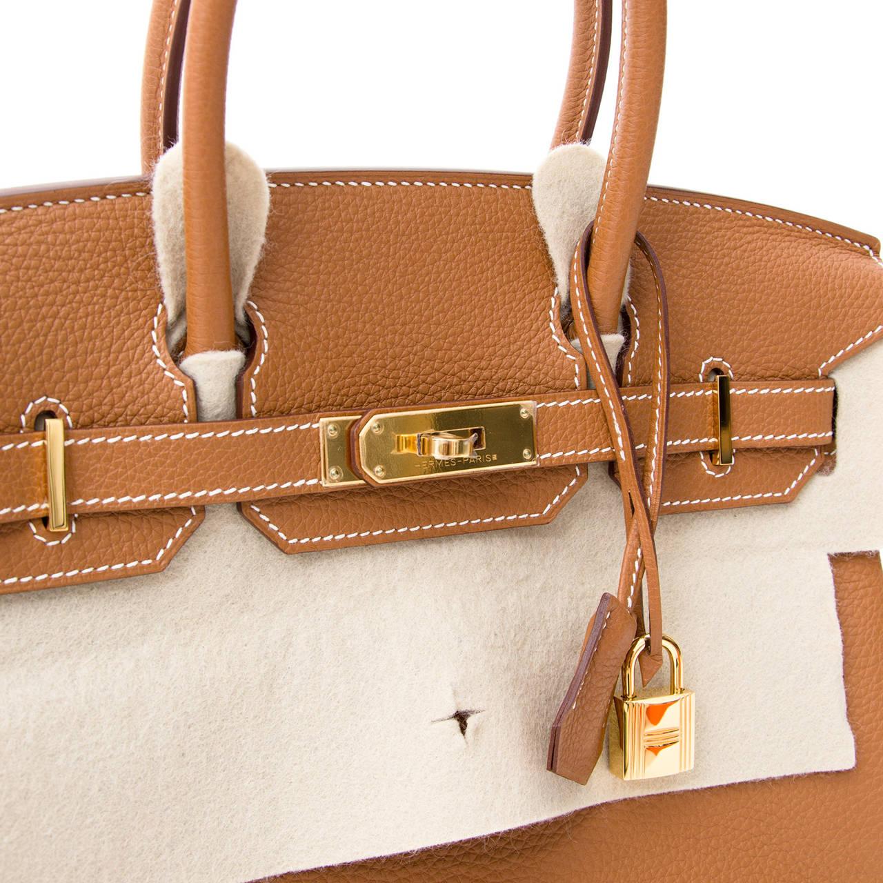 Hermès Birkin Gold Togo 30 GHW 6