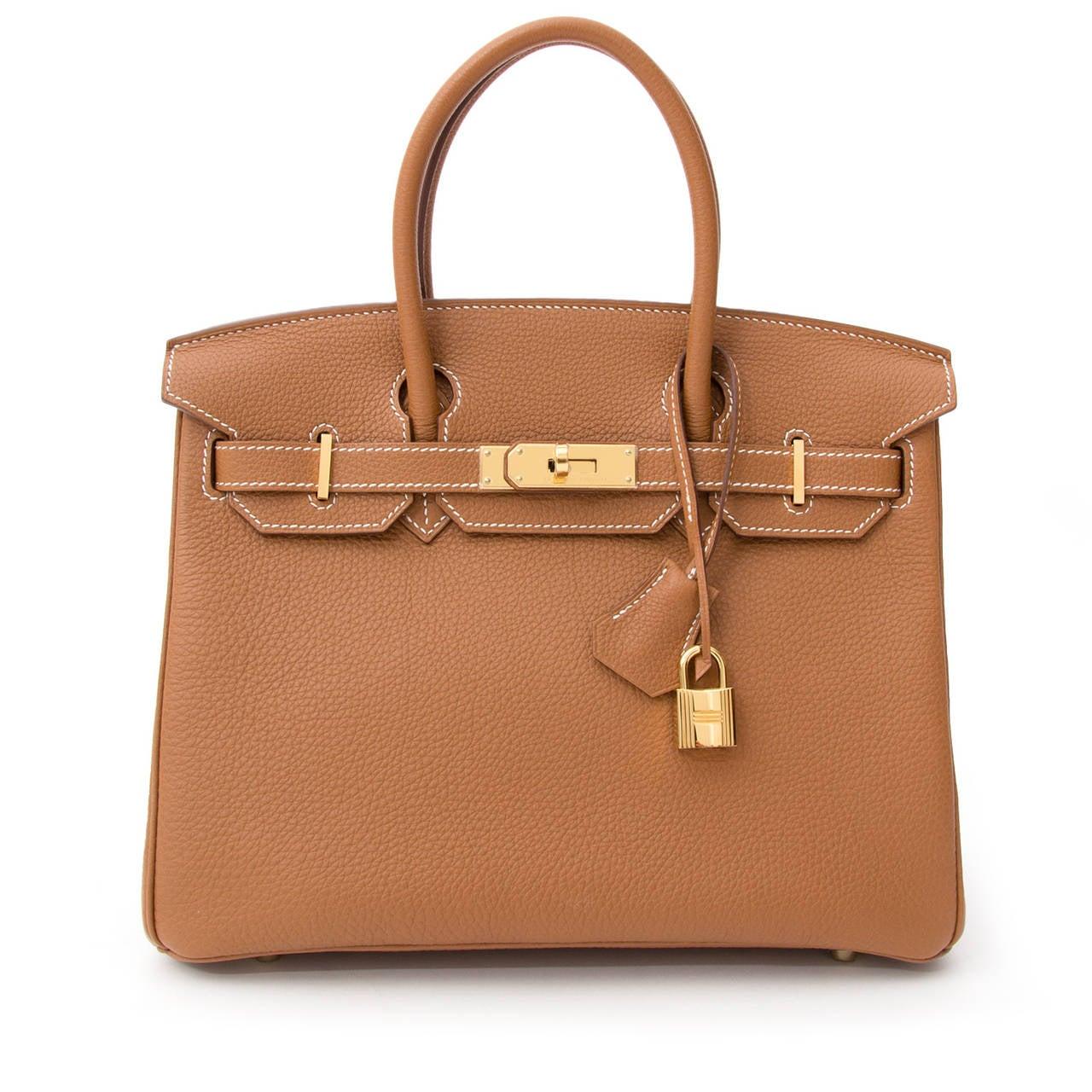 Hermès Birkin Gold Togo 30 GHW 8