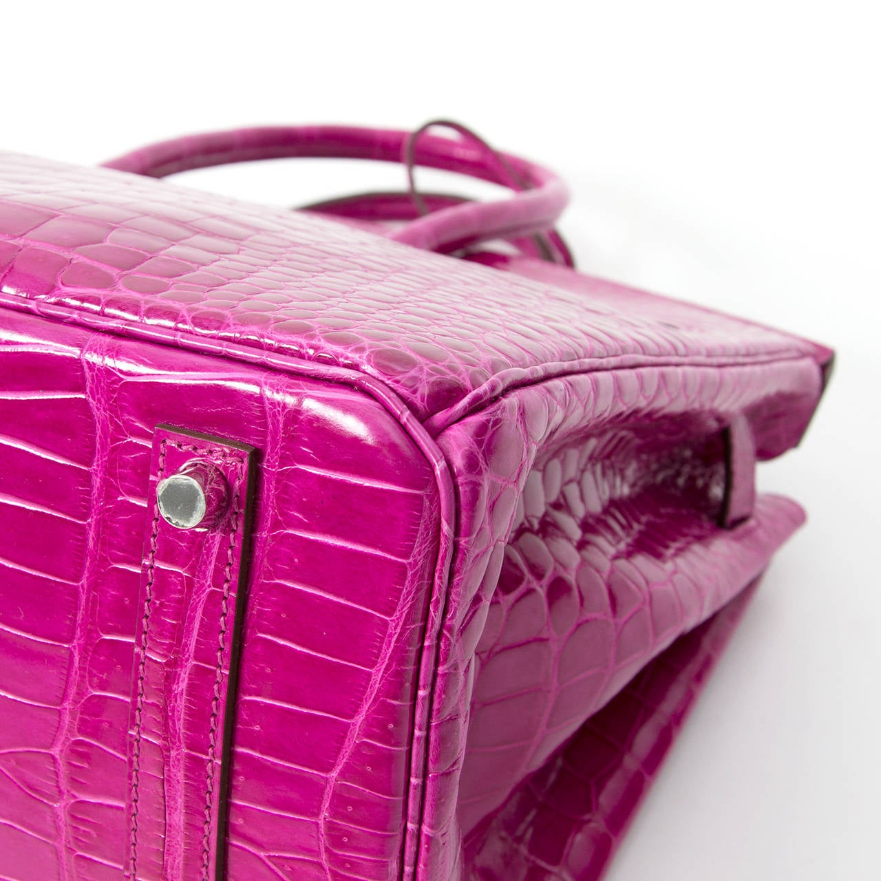 Hermès Birkin Corocodile Porosus PHW Rose Sheherazade 35 4