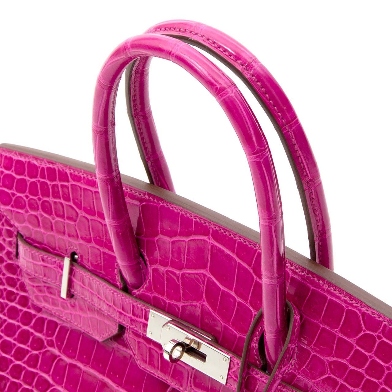 Hermès Birkin Corocodile Porosus PHW Rose Sheherazade 35 1