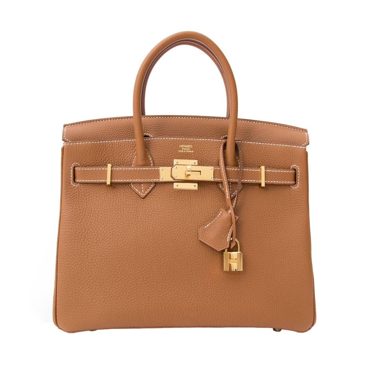 Hermès Birkin Gold Togo 30 GHW 1