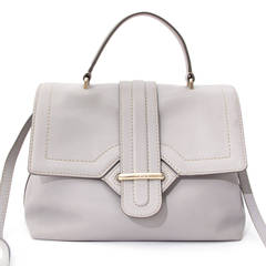 Tod's Pastel Grey Top Handle Bag With Strap