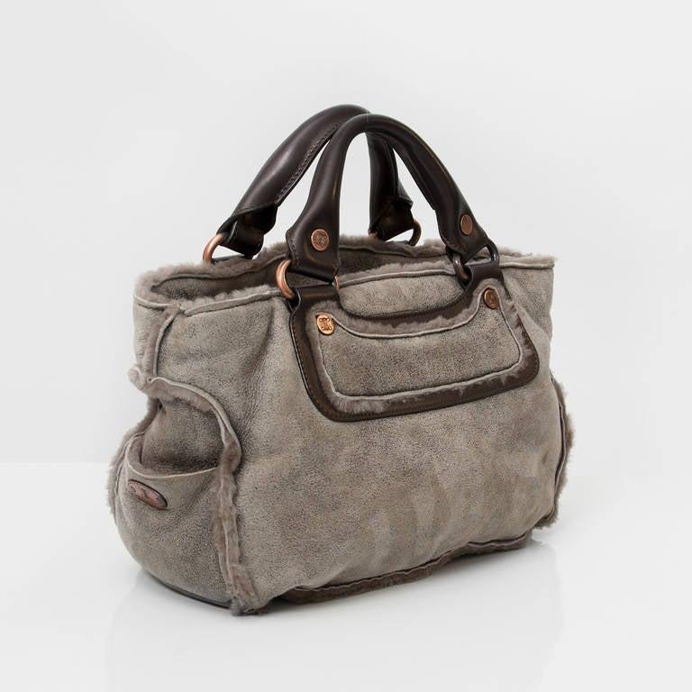 Celine Boogie Bag Double-faced Sheepskin For Sale at 1stdibs