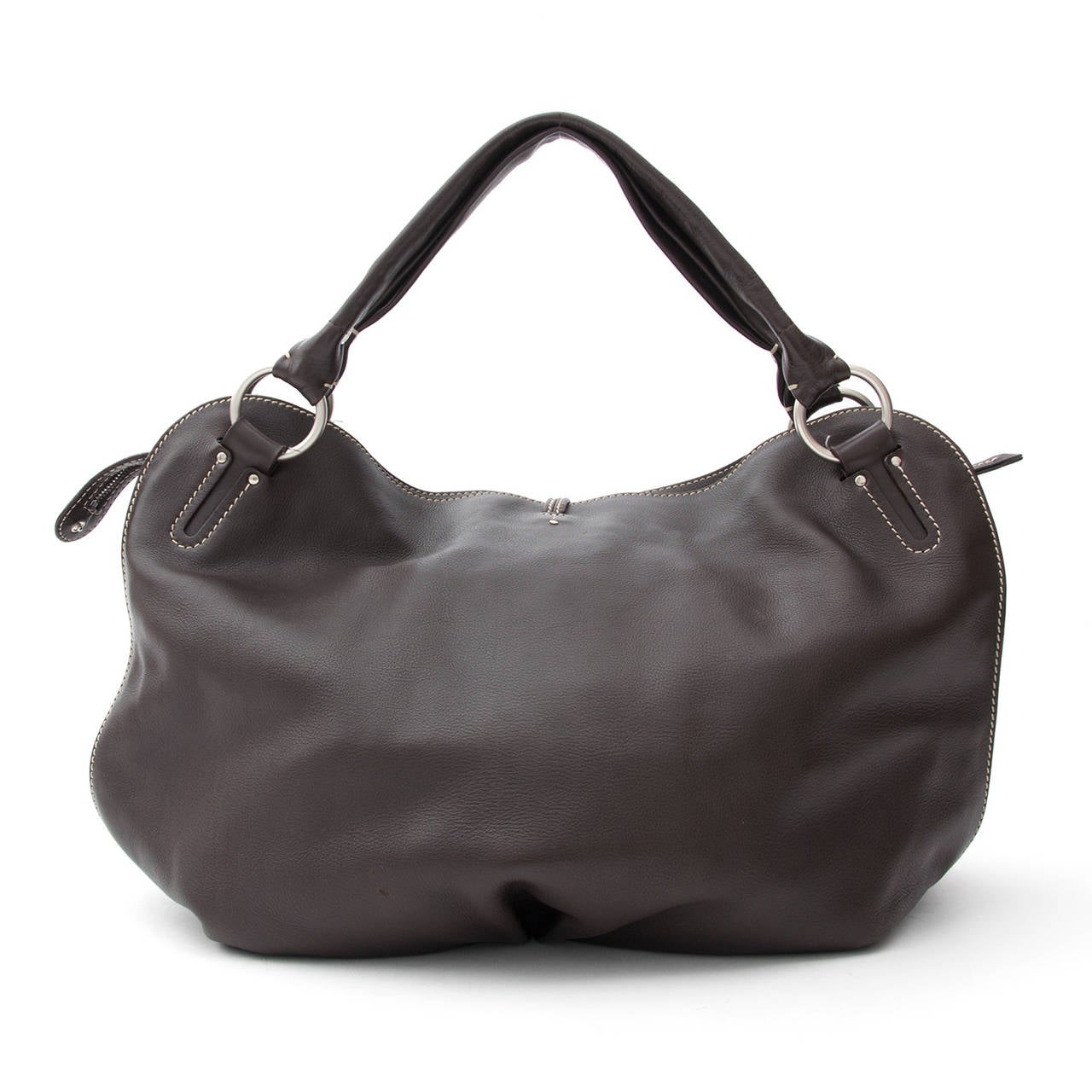 Celine Bittersweet Dark Brown Large Hobo Bag For Sale at 1stdibs
