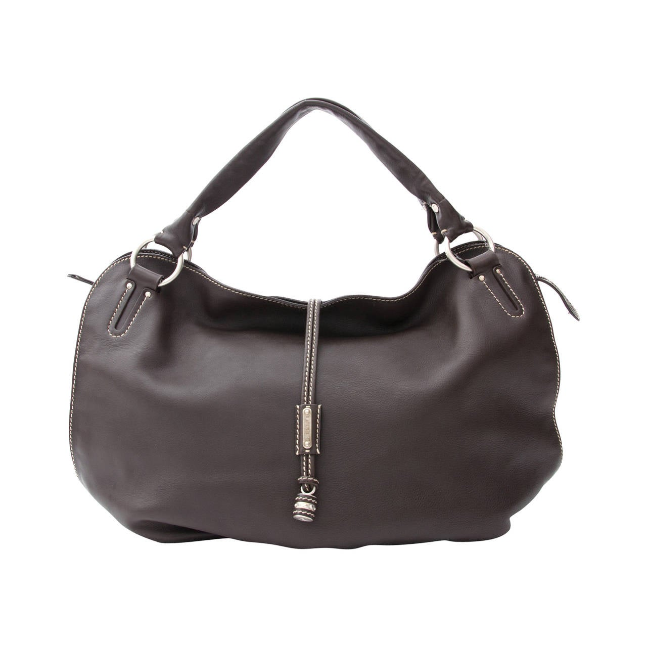 9c5851b6f7fb Celine Bittersweet Dark Brown Large Hobo Bag at 1stdibs
