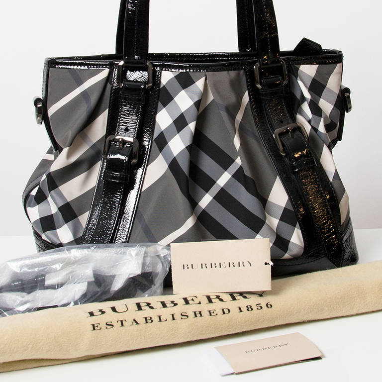 Burberry Printed Canvas Top Handle Bag 5