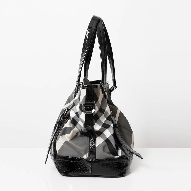 Burberry Printed Canvas Top Handle Bag 4
