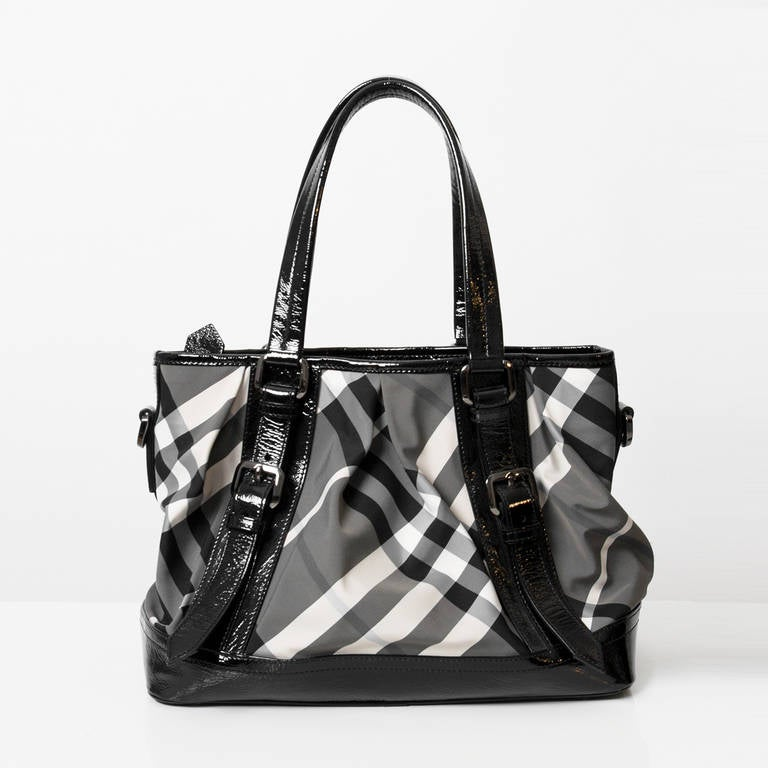 Burberry Printed Canvas Top Handle Bag 2