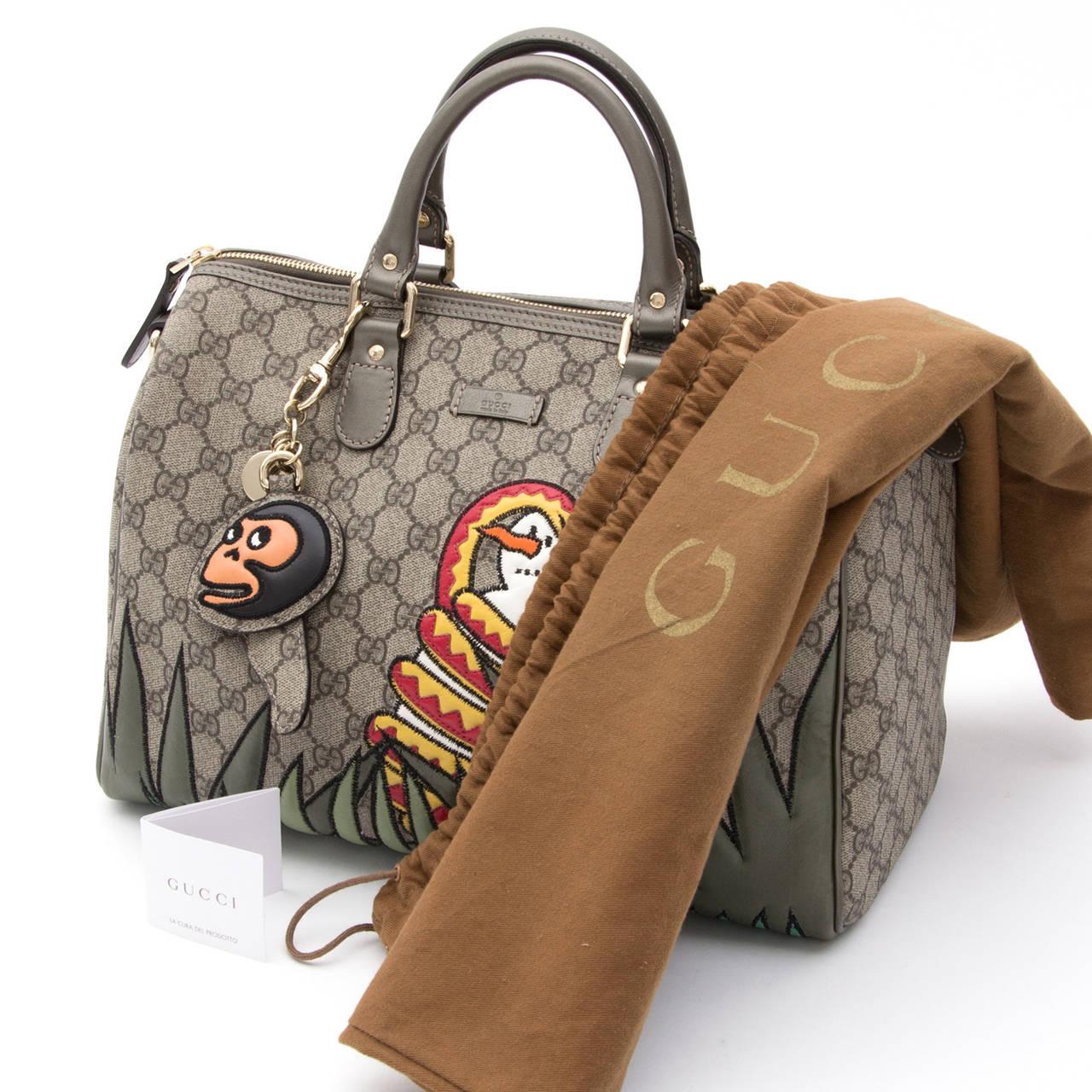 Gucci Unicef Snowman In Africa Medium Joy Boston Bag at ...