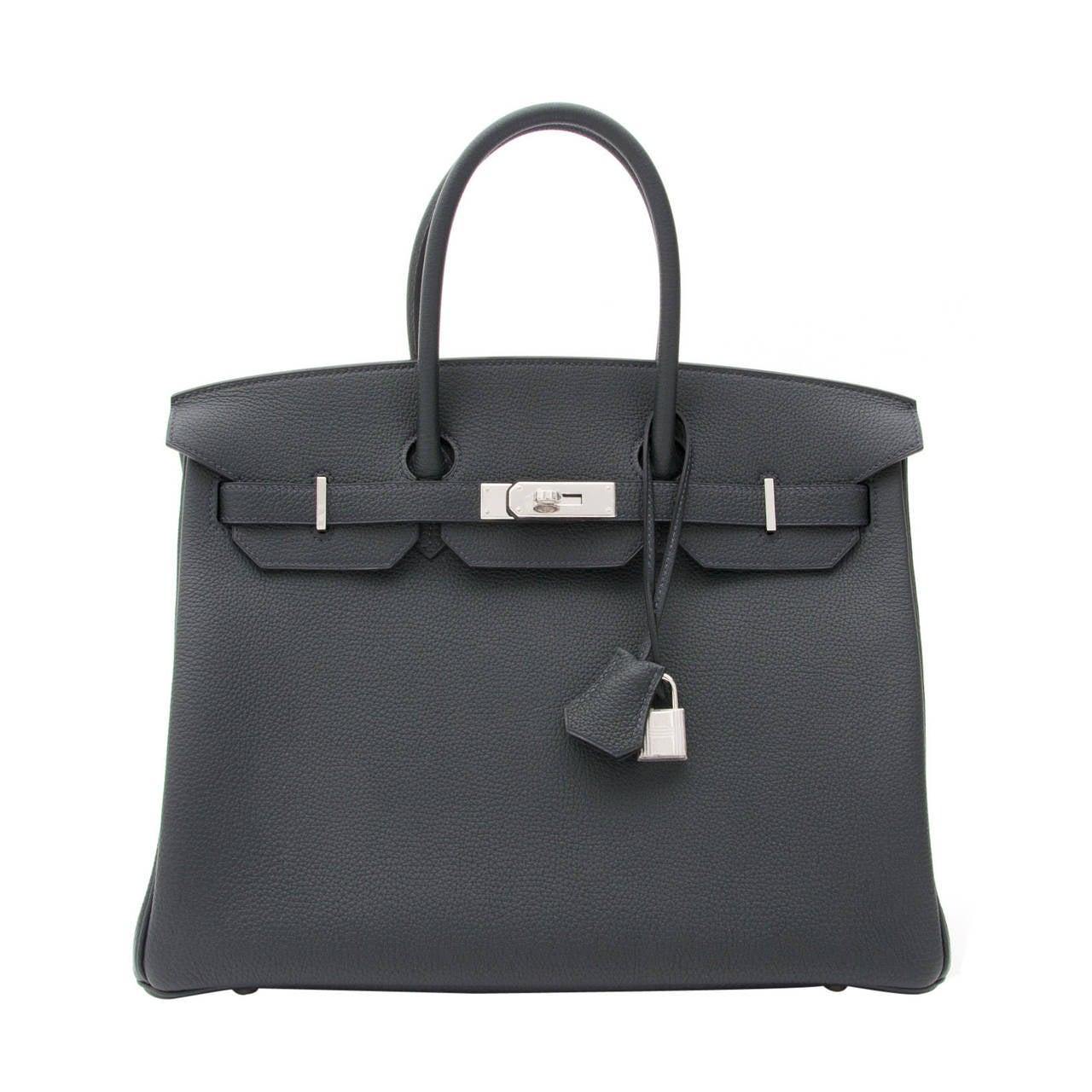 293b4468f6e4 BRAND NEW Hermès Birkin 35 Togo PHW Blue Océan at 1stdibs