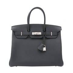 BRAND NEW Hermès Birkin 35 Togo PHW Blue Océan
