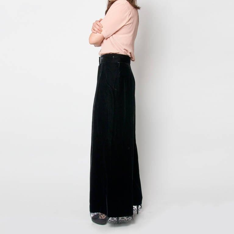Chanel Black Velvet Wide Pants & Corset 2-piece 5