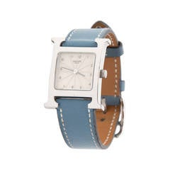 Preowned Hermès Watch Heure H Blue Jean