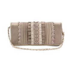 Chanel Silk Ruffle Clutch