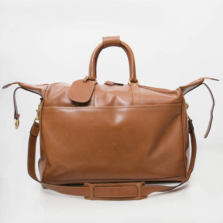 Gucci Cognac Duffel Traveling Bag 6