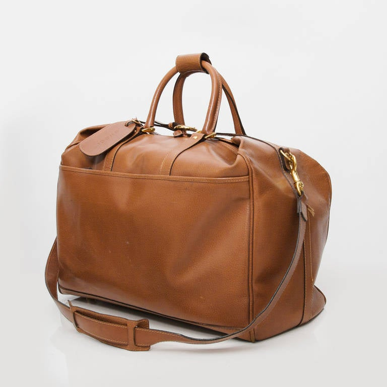 Gucci Cognac Duffel Traveling Bag 2