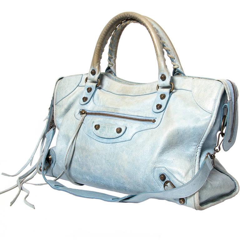 Balenciaga Baby Blue Classic City Bag at 1stdibs