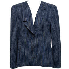 Chanel Blue Tweed Blazer