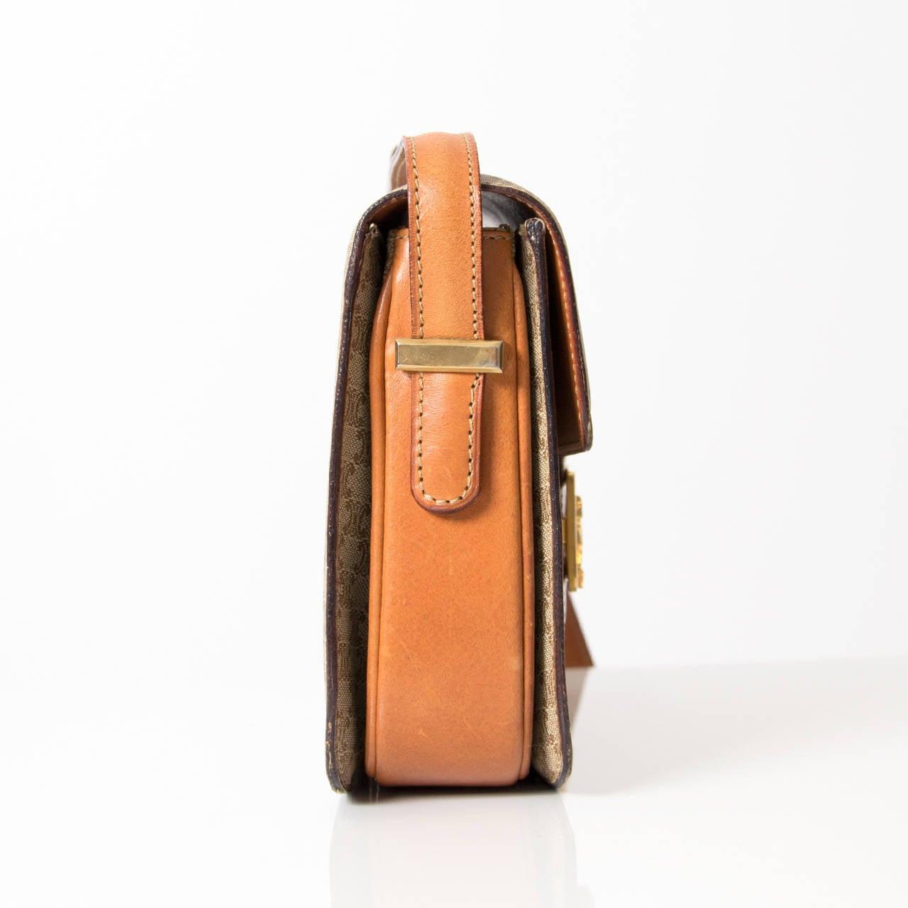 Celine Vintage Monogram Horse Carriage Box Shoulder Bag at 1stdibs