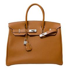 Brand New Hermes Birkin 35 Gold PHW Togo