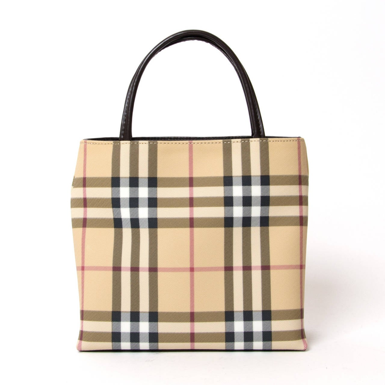 Beige Burberry Coated canvas Nova Handbag For Sale
